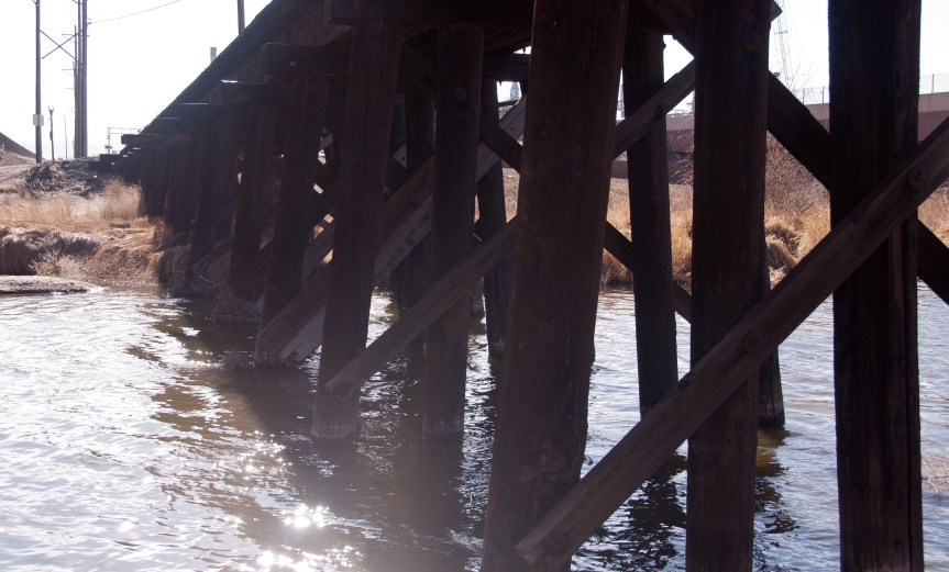 Trestle Over Water in the Sunlight