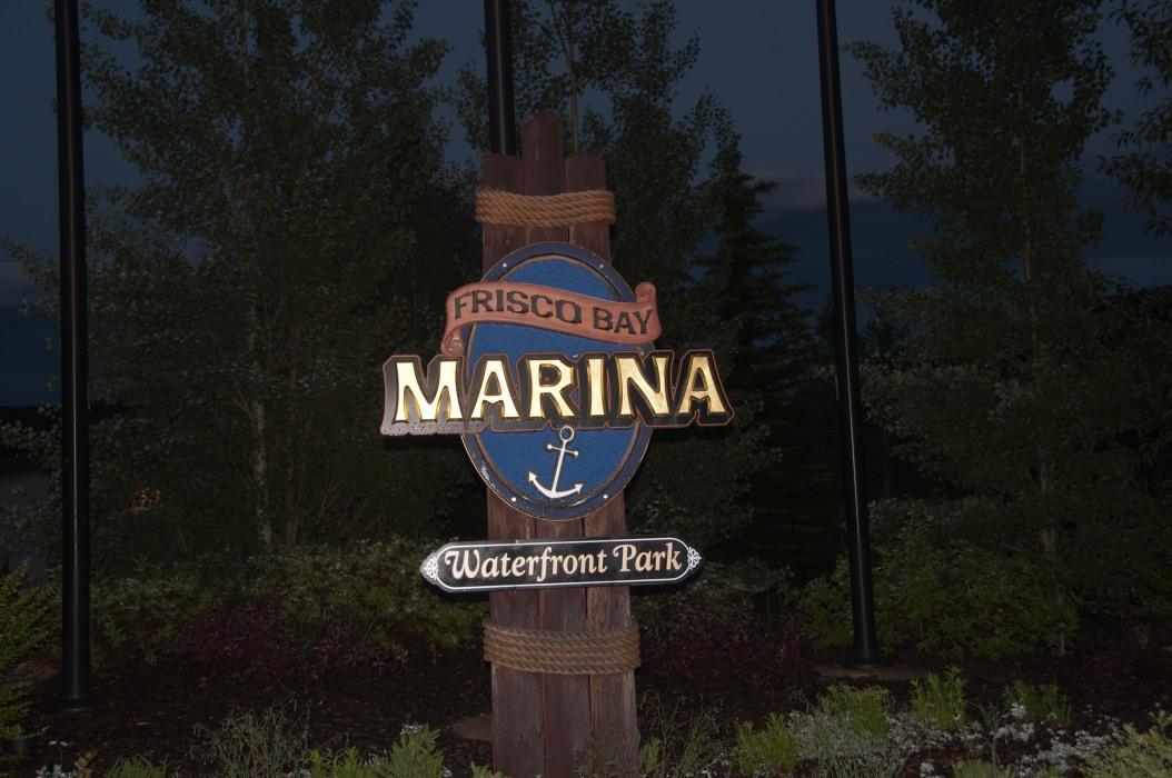 Marina Sign at Night