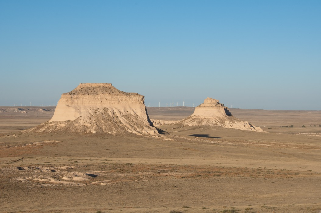 Pawnee Buttes Near Sunset