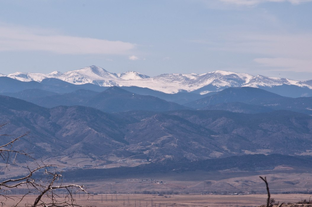 Mount Evans through the haze