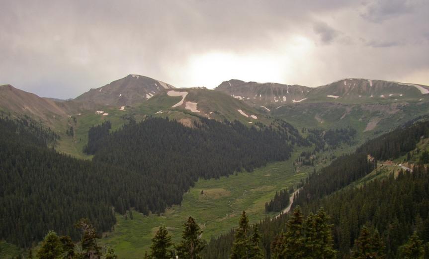 Dark Clouds over Mountain Valley