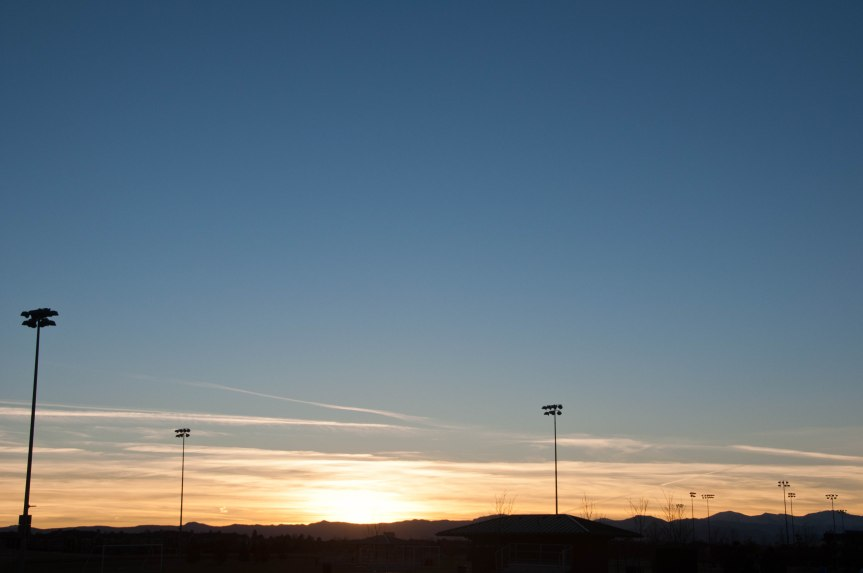 Sports Fields at Sunset
