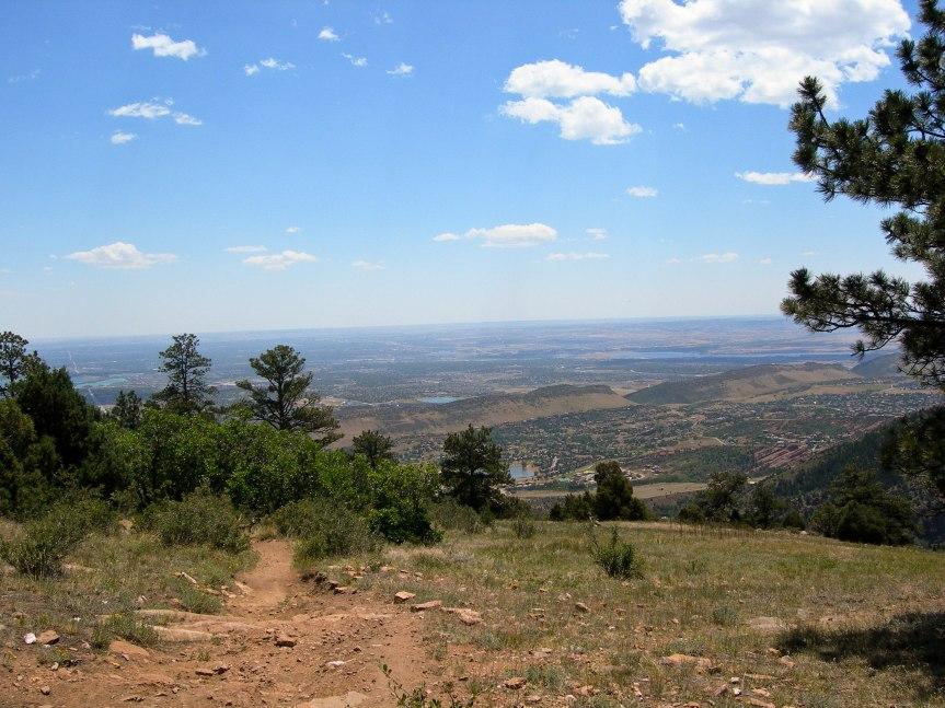 Southwest Denver from Castle Trail