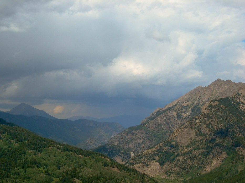 Storm Covered Rocky Mountains