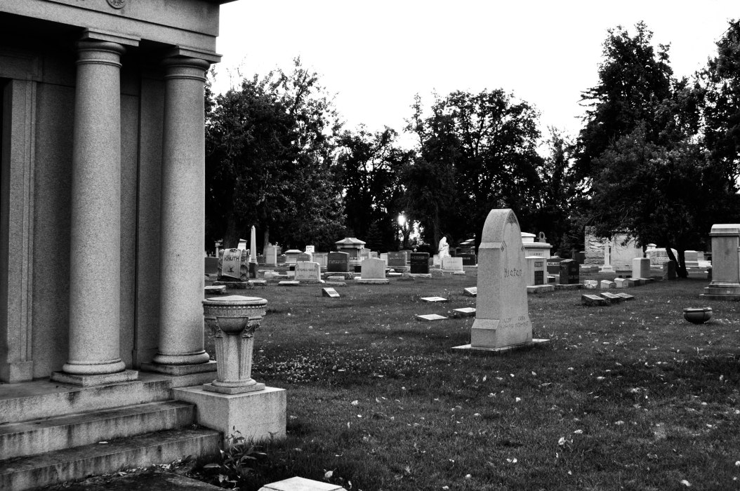 Shapes and Shadows in a Cemetery