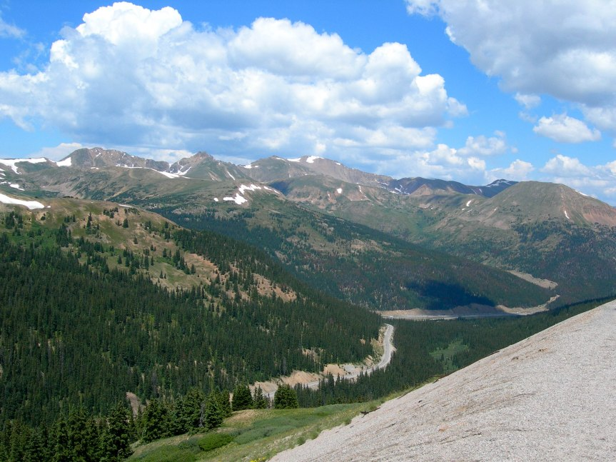 The Road Up Loveland Pass