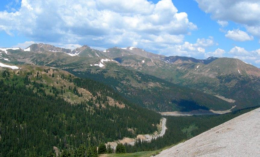 The Road Up Loveland Pass