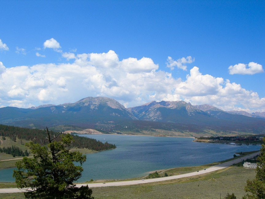Overlooking Dillon Reservoir