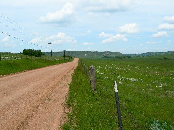 Road Cutting Through Green Fields