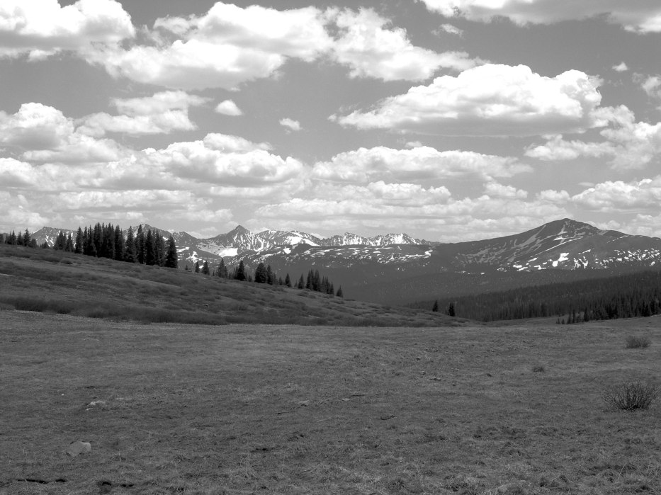 Fields and Clouds on Shrine Pass