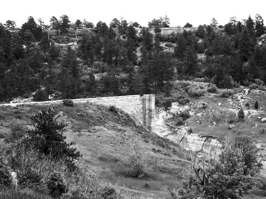 Remnant of Castlewood Canyon Dam