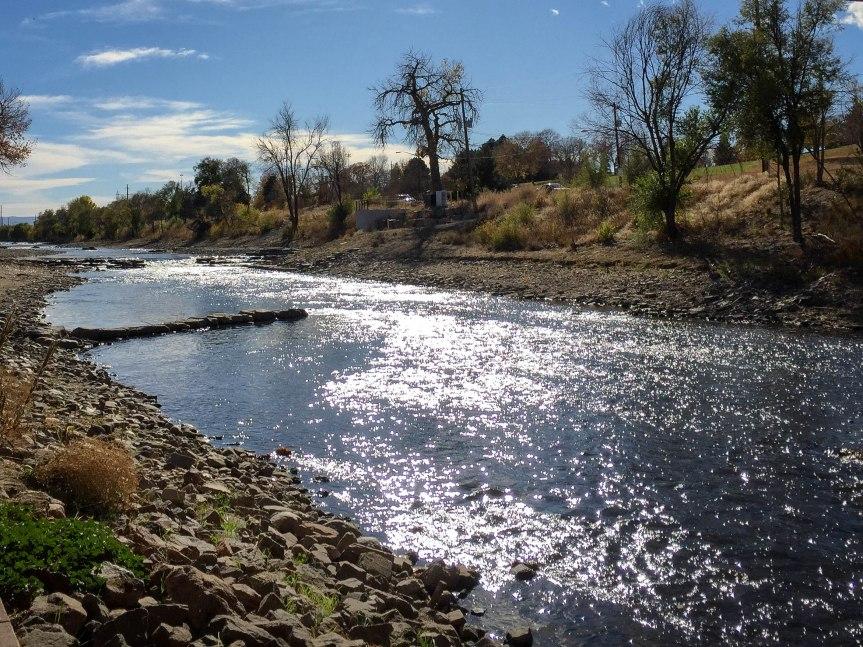 Sparkling River by Bike Path