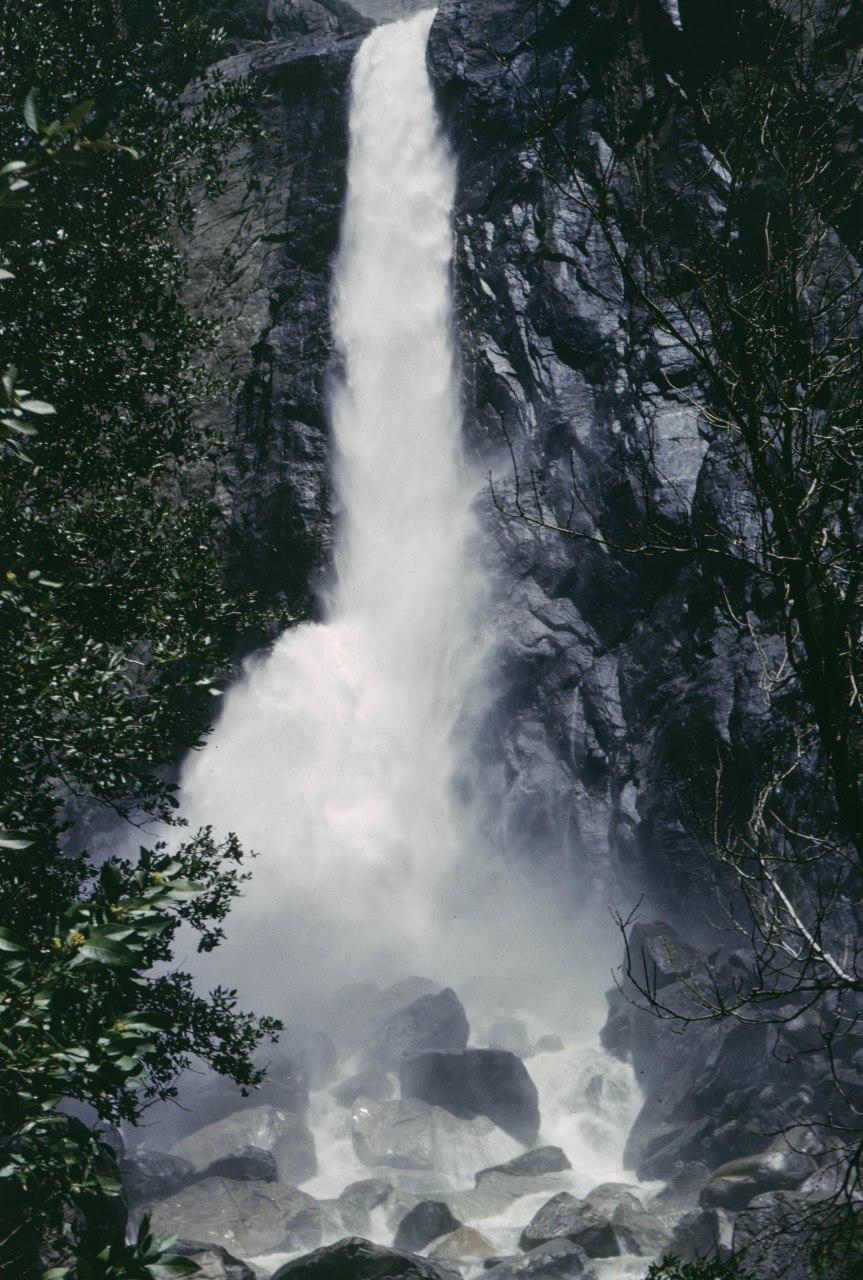 Waterfall in Yosemite Valley - 1966