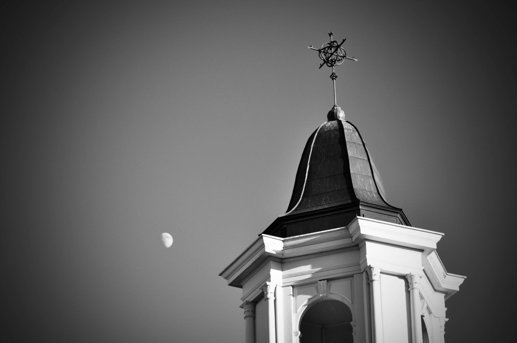 Bell Tower and the Moon