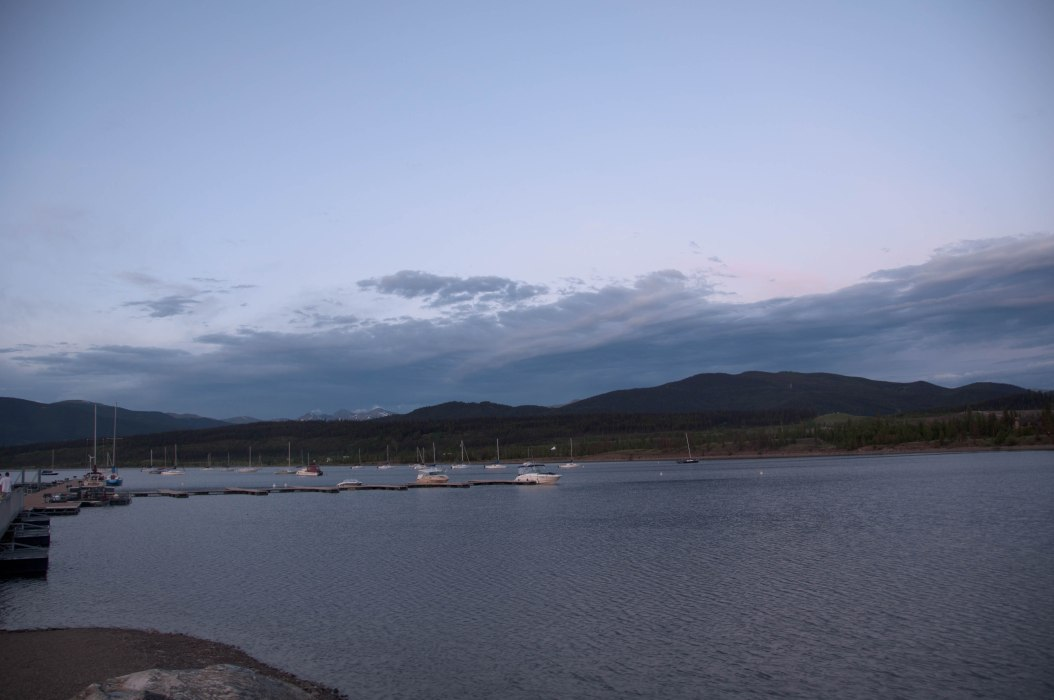 Dillon Reservoir at Dusk