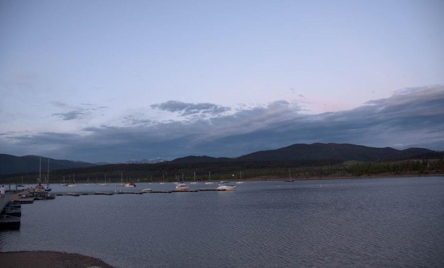 Dillon Reservoir at Dusk