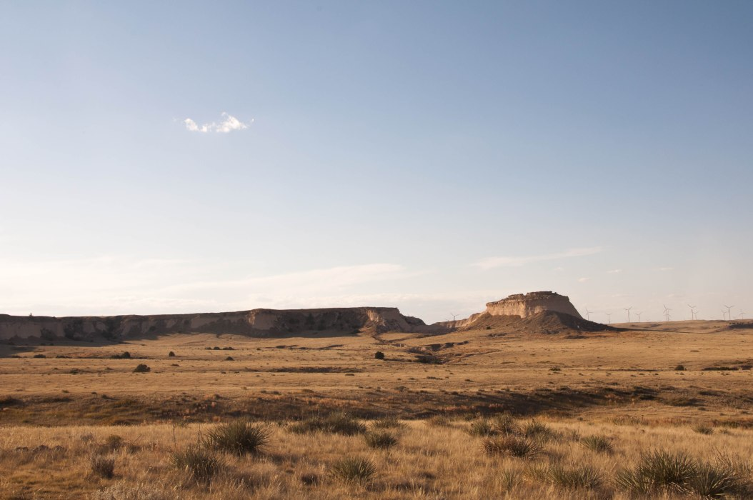 Pawnee Buttes and Wind Farm