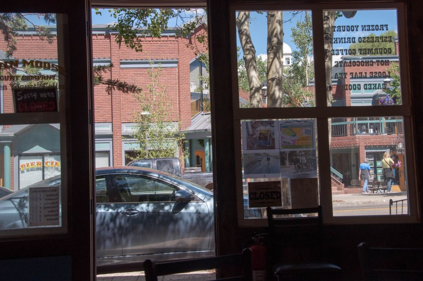 Breckenridge from a Coffee Shop