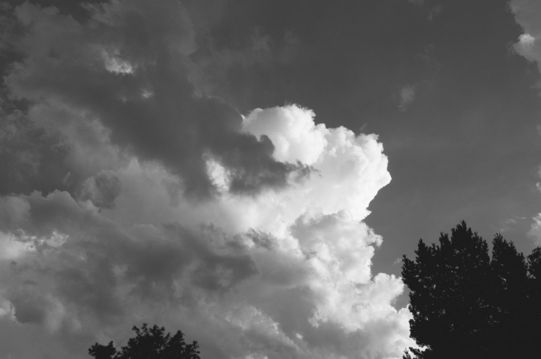 Billowing Clouds in Morning Sky