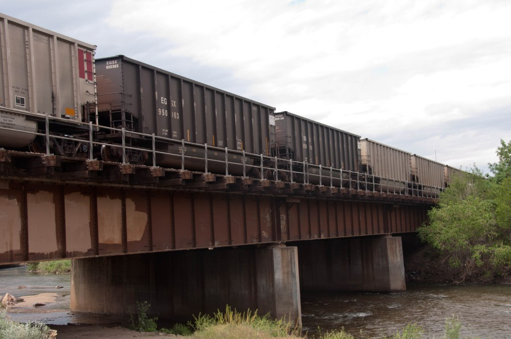Coal Cars Over the Platte
