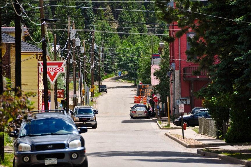 Power Lines Criss-Cross Tourist Town