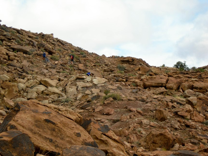 Rocky Descent in Moab, Utah