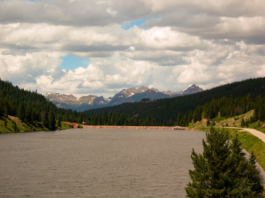 Looking over Black Lake toward the Gore Range