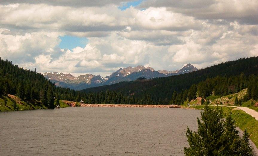 Looking over Black Lake toward the Gore Range
