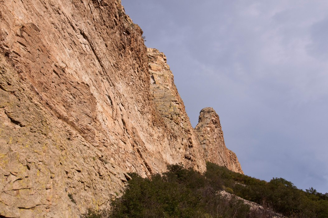 Closeup of Rock Wall near La Veta, Colorado
