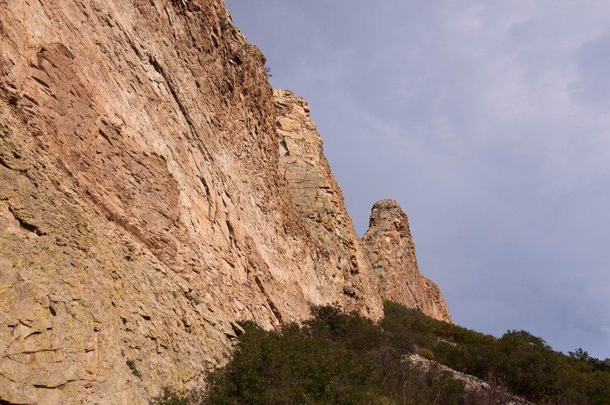 Closeup of Rock Wall near La Veta, Colorado