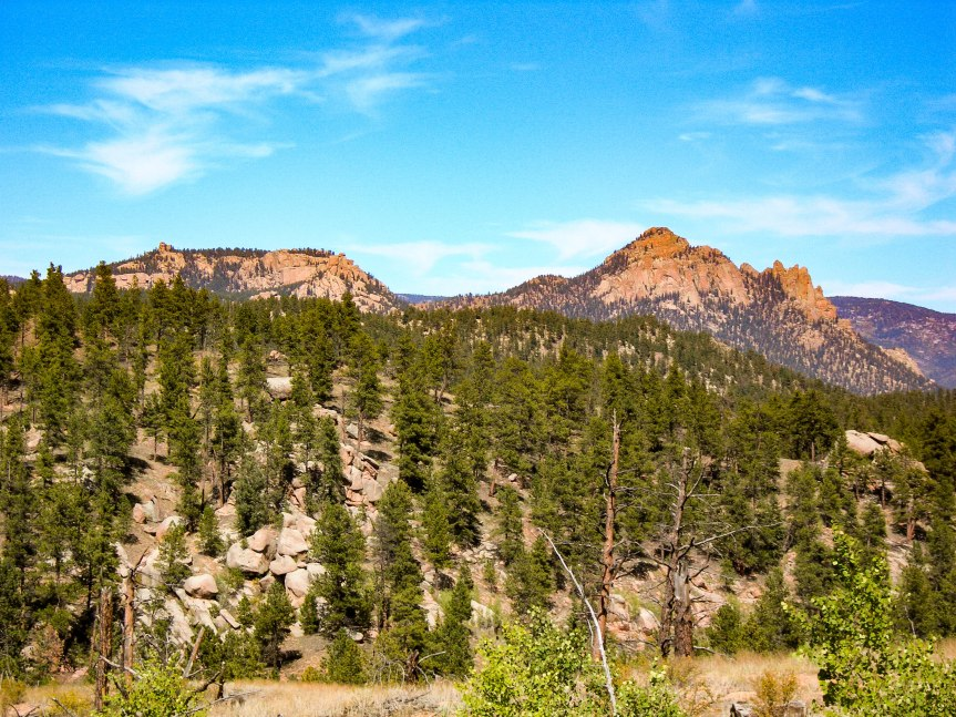 """""""Rocky"""" Mountains from Bike Trail"""