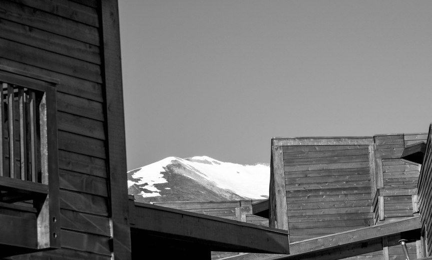 Condos & Mountain (B&W)