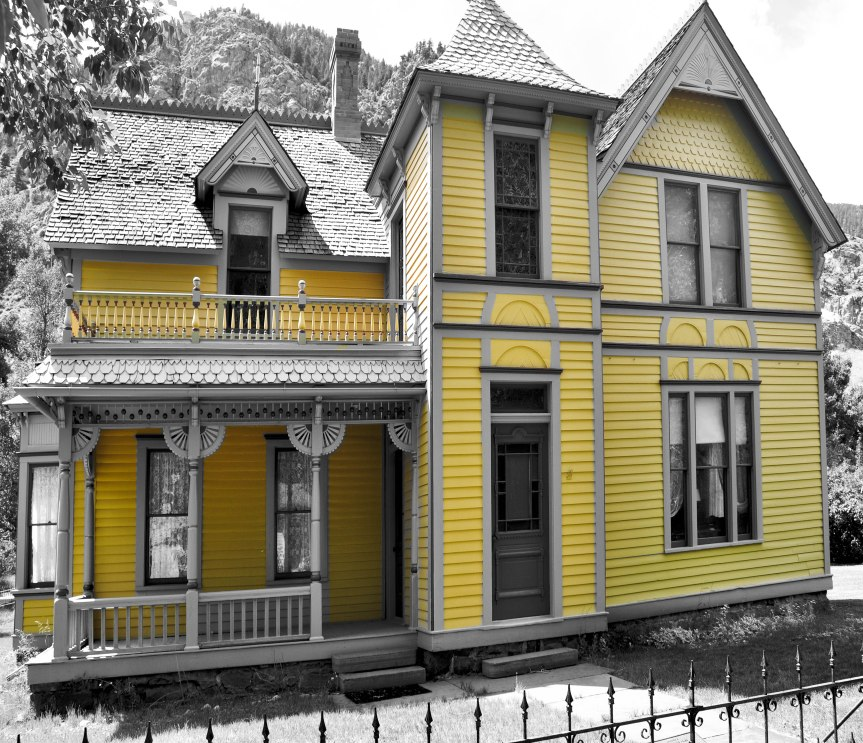 Historic House (B&W with Yellow)