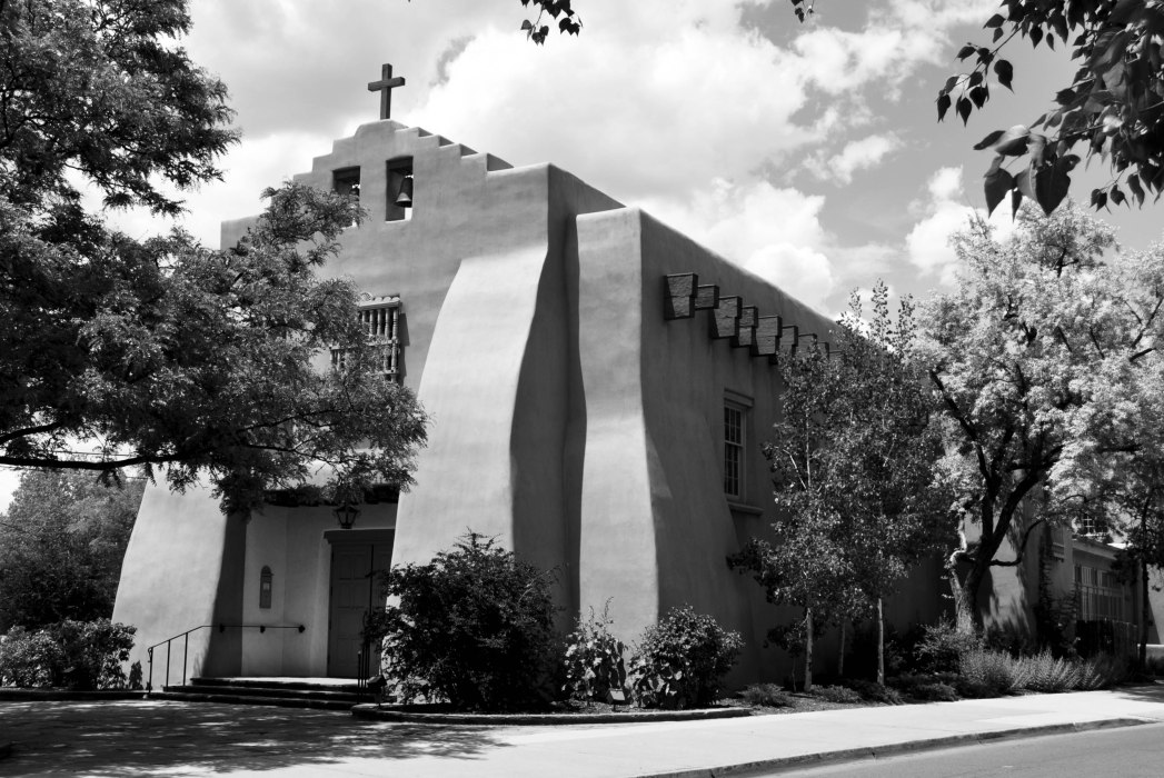 A Church in Santa Fe (B&W)