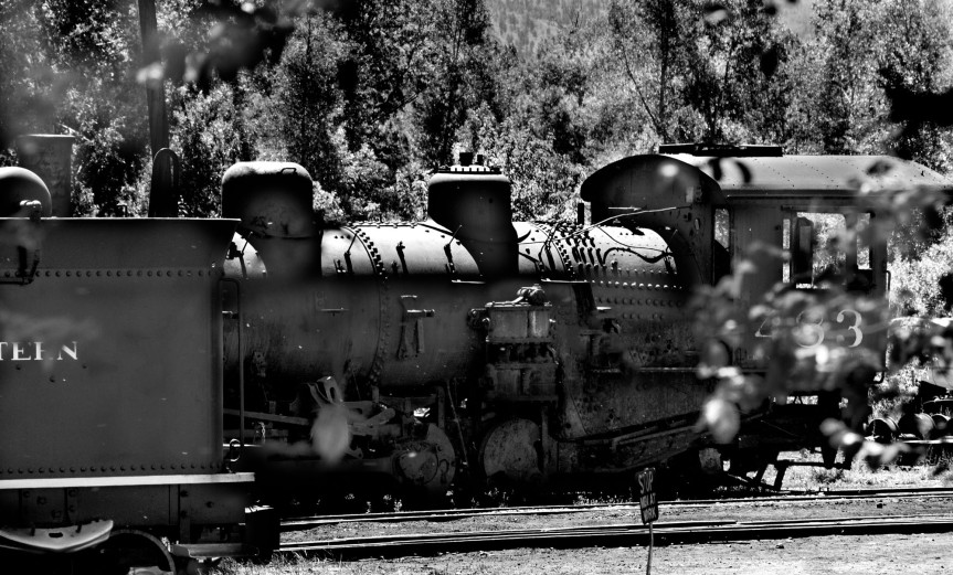 Railroad Engine (B&W)
