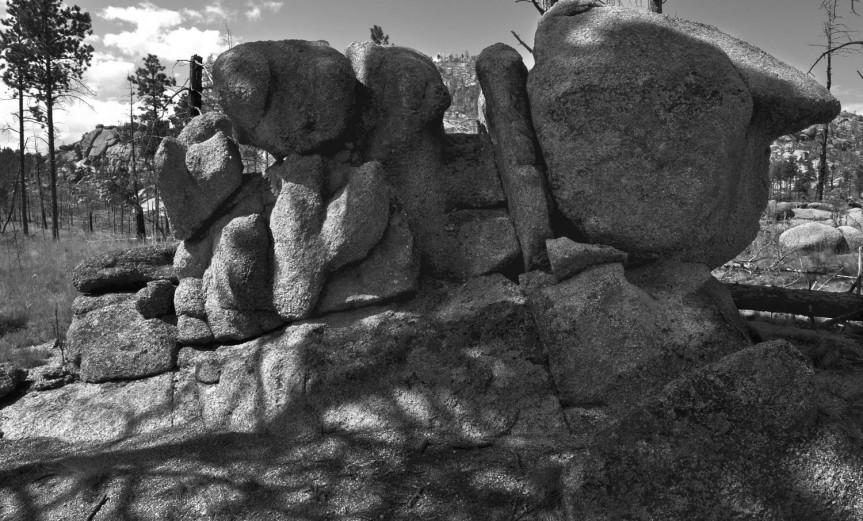 Rocks Along the Bike Trail